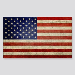 Distressed Flag v2 Sticker (Rectangle)